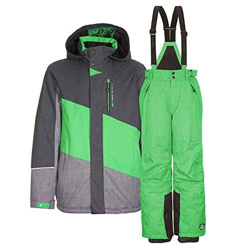 Killtec Kinderskianzug Skijacke Tamer Jr.+ Skihose Gauror Jr. - Gr. 128-176 - Farbwahl (grün, 128)