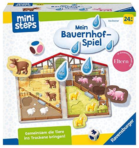 Ravensburger ministeps 4173 Unser Bauernhof-Spiel, Erstes Spiel rund um Tiere, Farben und Formen - Spielzeug...