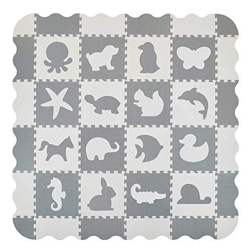 Velovendo® 40% dickere Puzzlematte | Sanfte Baby-Bodenmatte (Tiere)