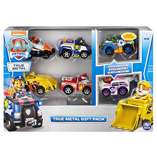 PAW Patrol True Metal Geschenkset mit sechs Metall - Fahrzeugen - Carbon Fiber Version