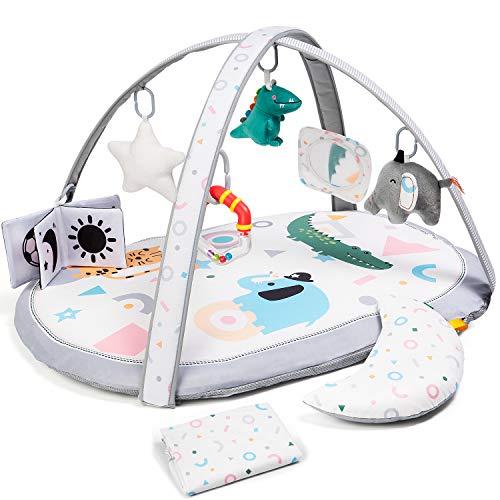 Baby Krabbeldecke mit 2 Austauschbaren Bezügen, Visuell, Hören, Fühlen, Kognitive Krabbeldecke mit...