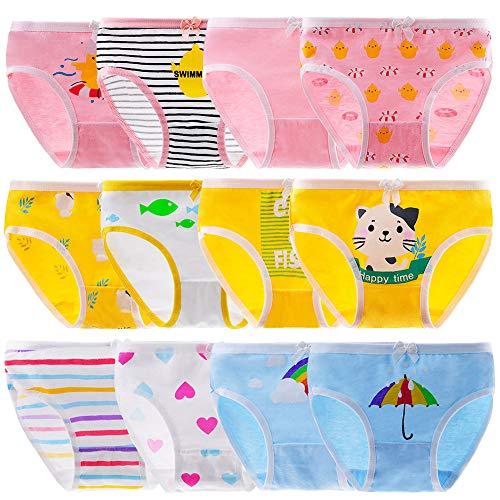 Anntry Bequeme Baumwollene Kinder-Unterhosen Unterwäsche für Kleine Mädschen Höschen 2-12 Jahre. (Eine...