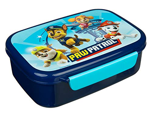 Scooli PPAT9903 Brotzeitdose aus Kunststoff mit Zwei Clips, Paw Patrol, leicht zu öffnen und zu schließen,...