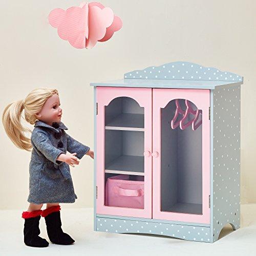 Olivias World 18 ZollBaby Doll Wooden Furniture KleiderschrankTD-0210AG