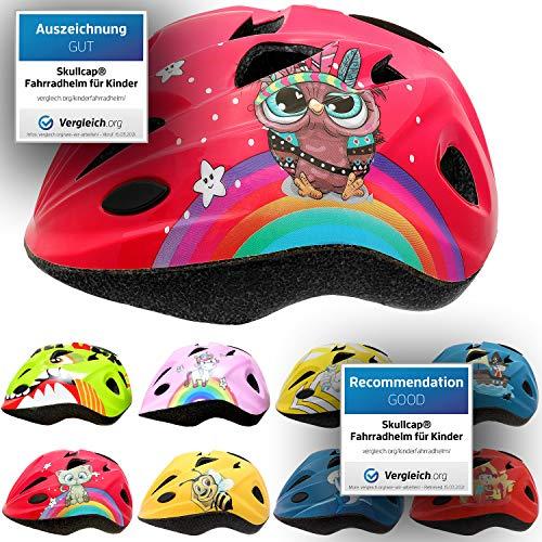 Skullcap® Fahrradhelm für Kinder Kinder-Helm für City-Roller, Longboard, Scooter - Roter Helm für Inliner,...