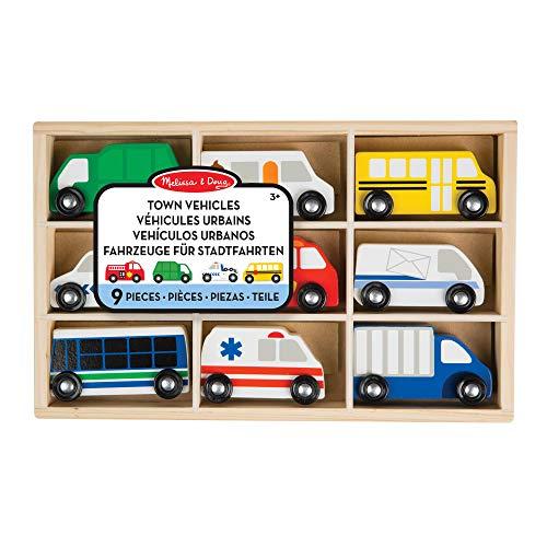 Melissa&Doug Stadtfahrzeuge aus Holz | Spielzeug und Züge aus Holz | LKWs und Fahrzeuge | 3+ | Geschenk...