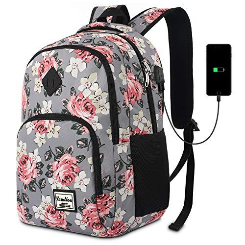 Schulranzen Mädchen,Tagesrucksack Frauen Schultasche Damen Rucksack mit Laptopfach für Schule Uni Ausflug...