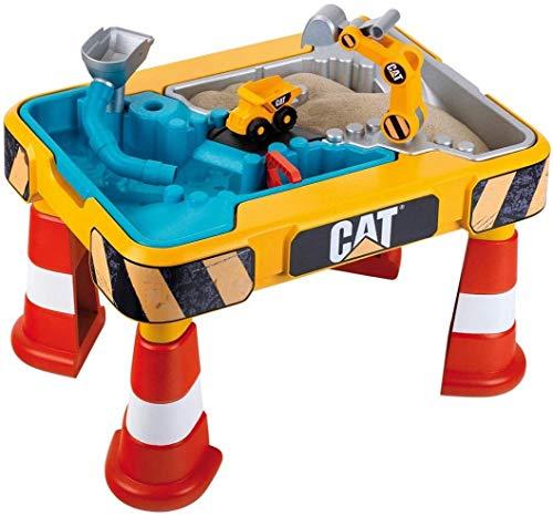 Theo Klein 3237 CAT Sand- und Wasserspieltisch I Mit Baggerarm, Kipper, 2 Rohren, Stoppern und entnehmbaren...