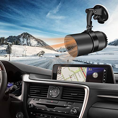 AQOTER Auto Heizlüfter, 12V 150W Auto Heizung und Kühlventilator, Car Heater, Auto Defroster Demister,...