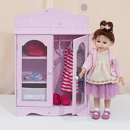 Olivia's Little World TD-0210AP Puppenkleiderschrank, Lila/Gold