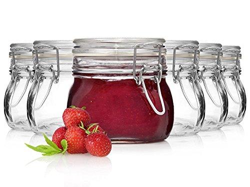 Bormioli Fido Gläser mit Bügelverschluss 6 teilig | Füllmenge 500 ml | Luftdichte Konservierung durch den...