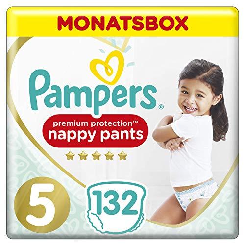 Pampers Premium Protection Pants, Gr. 5, 12kg-17kg, Monatsbox (1 x 132 Pants)