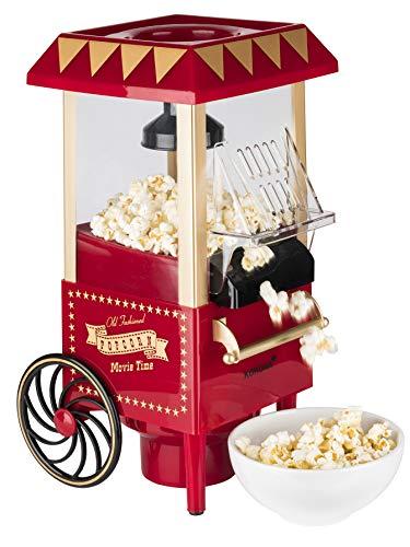 Korona 41100 Popcornautomat | Retro Design | Ölfreie Herstellung dank Heißluftverfahren | Einfach zu...