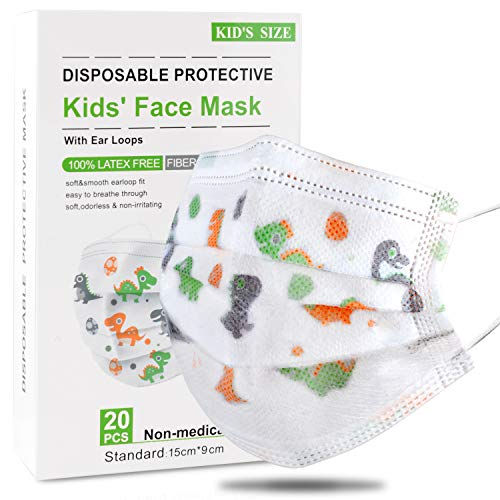 DISEN 20 Stück Kinder Mundschutz Masken kleine Mundschutz Masken Einweg-Gesichtsmasken Gesicht Masken...