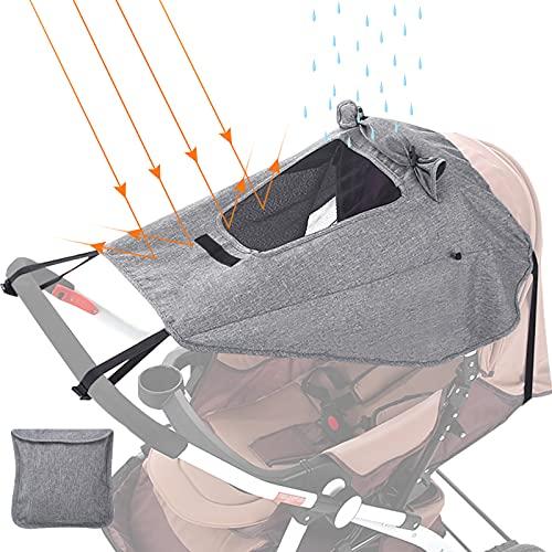 GeeRic Sonnensegel Kinderwagen mit UV Schutz 50+ Universal Staubdicht/Winddicht Sonnendach für Kinderwagen...