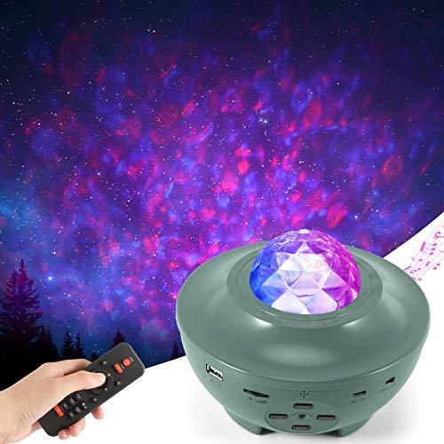 LED Sternenhimmel Projektor,Joycabin Rotierende Wasserwellen Sternenlicht Projektor Lamp mit Fernbedienung und...