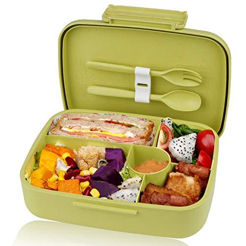 KUPBOX Brotdose Bento Box für Kinder, auslaufsichere Lunch Box mit fünf separat Fächer, BPA Frei, Geeignet...
