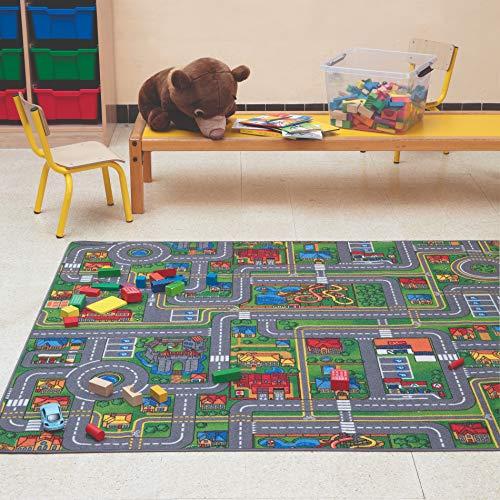 Carpet Studio Teppich Kinderzimmer 140x200cm, Spielteppich Straße Jungen & Mädchen für Schlafzimmer &...