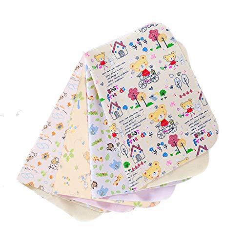 Wasserdichte Wickelunterlage Baby,4 Stück Tragbare Waschbare Wickelunterlage Baby Wasserdicht Waschbar...