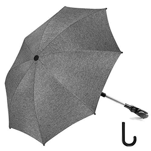RIOGOO Kinderwagen Sonnenschirm Regenschirm Universal 50+ UV Sonnenschutz für Babys und Kleinkinder mit...