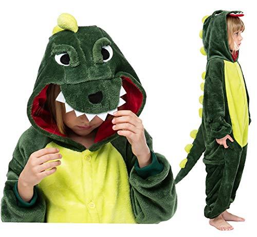Seawhisper Dinosaurier Kostüm Jumpsuit Kinder Schlafoverall Tier Dino Pyjamas Halloween Kostüm...