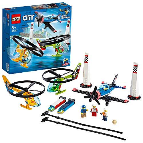 LEGO 60260 City Air Race Spielzeug, Flugzeug & Hubschrauber Spielset, Flugzeugspielzeuge für Kinder ab 5...