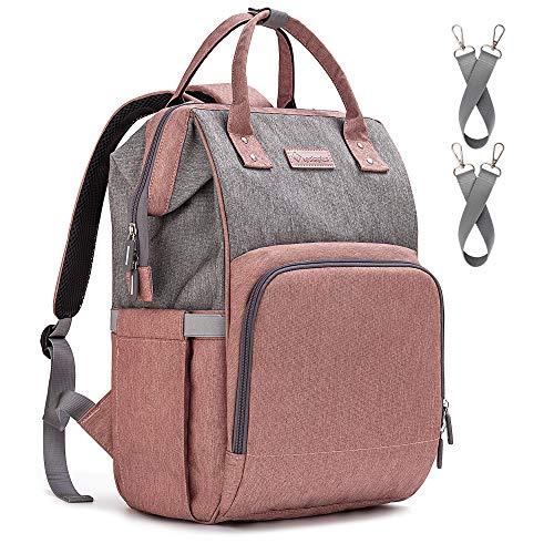 Upsimples Baby Wickelrucksack Wickeltasche,Multifunktional Große Kapazität Babytasche Reisetasche,mit...