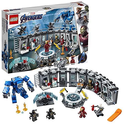 LEGO 76125 Super Heroes Marvel Avengers Iron Mans Werkstatt, Set mit 6 Minifiguren, Superhelden Spielzeug ab 7...