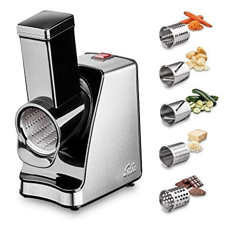 Solis Elektrische Multiraffel/Schneidemaschine mit 5 Schneidetrommeln, Food Processor,...