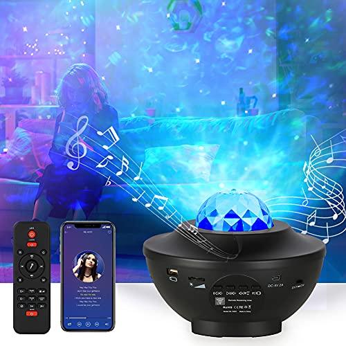 Opard LED Sternenlicht Projektor Sternenhimmel Rotierende Wasserwellen Projektionslampe, Kinder Nachtlicht...