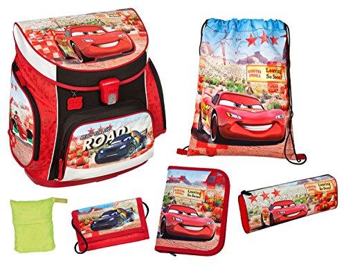 Scooli CAGR8252AZ Campus UP Schulranzen Set Disney Pixar Cars, 6 teilig