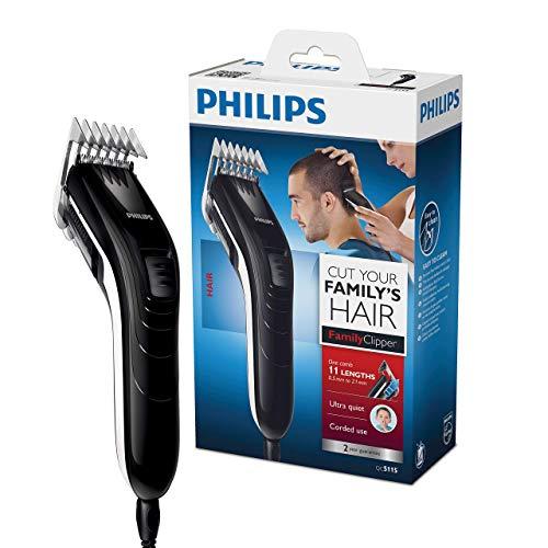 Philips QC5115/15, Haarschneidemaschine für die ganze Familie, mit 11 präzisen Längeneinstellungen von 3 mm...