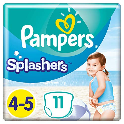 Pampers Splashers Einweg-Windeln, Größe 4 – 5 (x 11 Unterhosen)