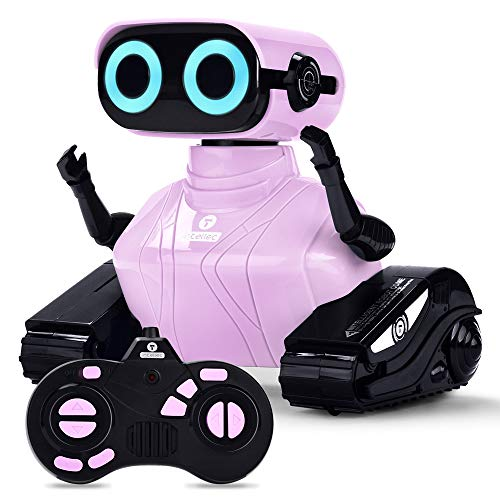 ALLCELE Roboter Kinder Spielzeug Mädchen, RC Roboter Spielzeug mit Fernbedienung, Süß Aussehen, Interessant...