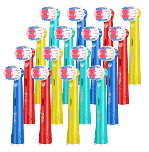 Milos 16er Aufsteckbürsten Kompatible für Oral B Kinder Elektrische Zahnbürsten