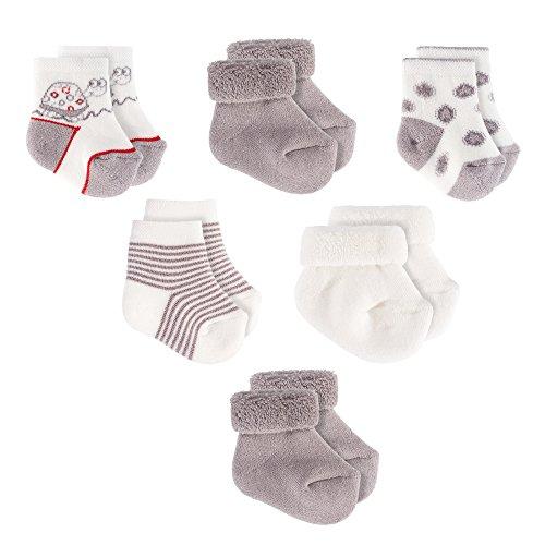 Jacobs Babymoden Baby Socken/Erstlings-Söckchen/Erstlingssocken - 6er Pack (0-3 Monate) Baumwolle,...