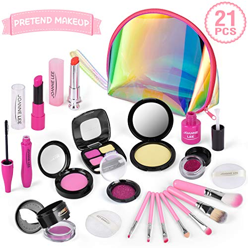 AMOYEE Makeup Set für Kinder, 21 Stück Spiel-Makeup-Set Pretend Play Makeup Kosmetisches Spielzeug...