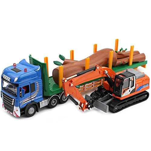 Xolye Legierung Technik Fahrzeug Holz Transport Vehicle Set Kombi-Spielzeug-Auto Simulation...