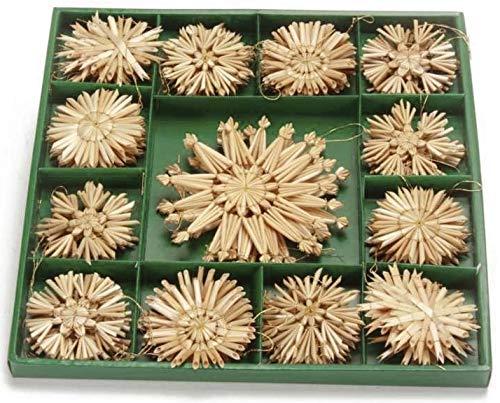 Riffelmacher 75320 Christbaumschmuck aus Stroh Strohsterne - Weihnachten und Basteln 50 Stück