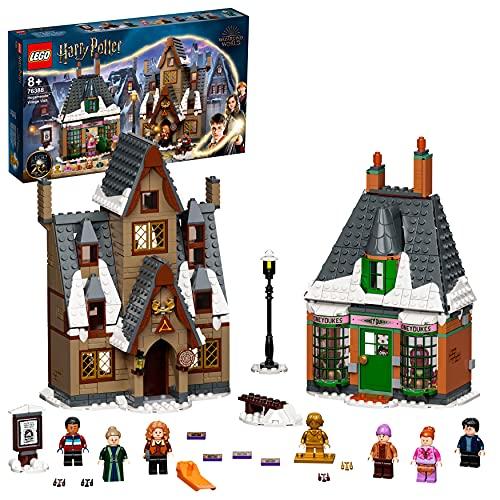 LEGO 76388 Harry Potter Besuch in Hogsmeade Spielzeug ab 8 Jahre, Set zum 20. Jubiläum mit Ron als goldene...