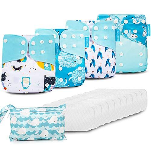 HebyTinco Baby Windelhose Windeln Trainerhosen, Stoffwindeln Windelhose Baby Set, Wiederverwendbar, Waschbar,...
