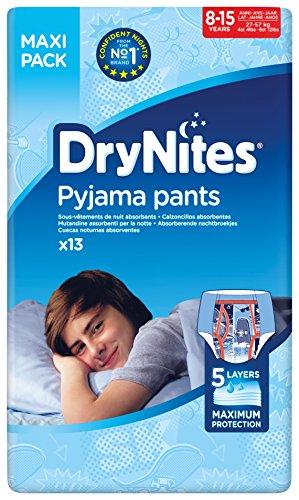 Huggies DryNites hochabsorbierende Nachtwindeln bei Bettnässen, für Jungen 8-15 Jahre, 4 x 13 Stück...