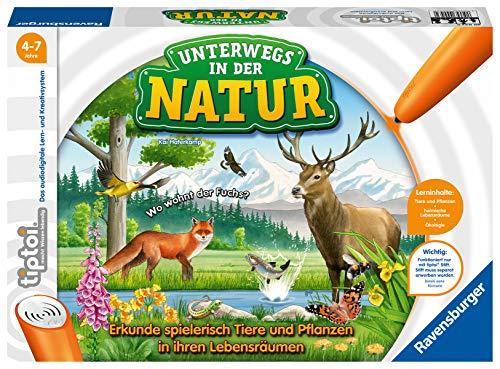 Ravensburger tiptoi Spiel 00043 Unterwegs in der Natur - Heimische Natur und Tiere entdecken, Lernspiel für...