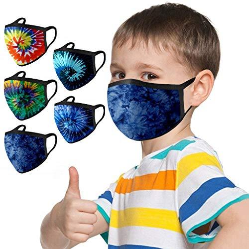 Rosennie 5 Stück Kinder Mund und Nasenschutz Mundbedeckung waschbar Staubdicht Bandanas Halstuch...