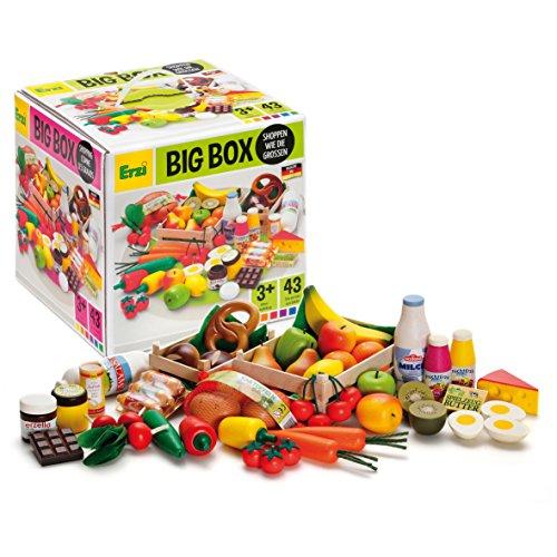 Erzi 28025 Sortierung Big Box aus Holz, Kaufladenartikel für Kinder, Rollenspiele