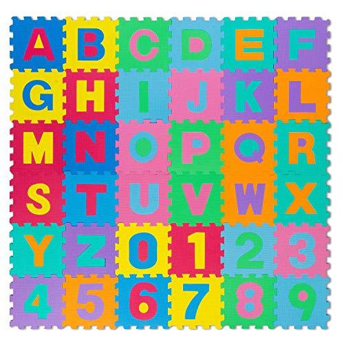 all Kids United Kinder Puzzlematte Kinderteppich Spiel-Teppich Spielmatte Eva Schaumstoff-Matte 86-TLG;...