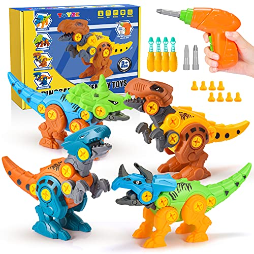 Toyze Dinosaurier Spielzeug ab 3 4 5 6 7 8 9 Jahre,Bohrmaschine Kinder Spielzeug Jungen 3-9 Jahre Dinosaurier...