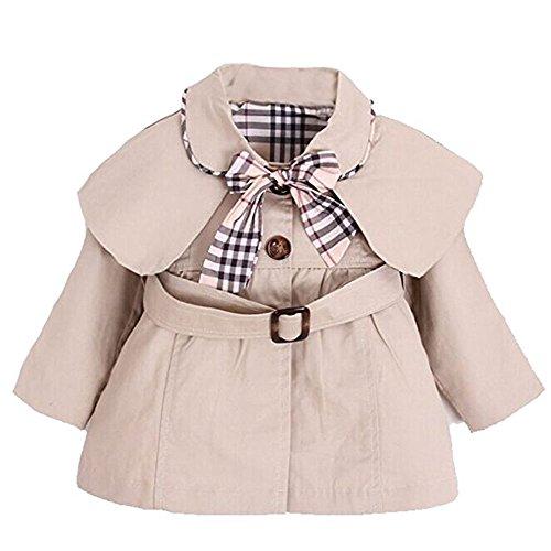 YaoDgFa Baby Mädchen Jacke Mantel Trenchcoat Sweatjacke Prinzessin Kinderjacken Kleidung Outerwear 0-3 Jahre...