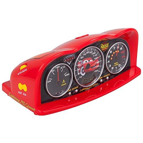 Disney 250161 Disney Cars Radiowecker Alarm Clock mit Zeitanzeiger rot