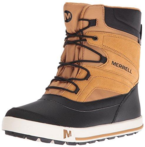 Merrell Jungen ml-b Snow Bank 2.0 Waterpoof Trekking-& Wanderstiefel, Braun (Wheat/Black), 35 EU
